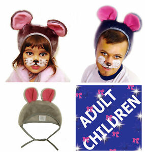 Animal Mouse Fancy Dress Carnival Hat Unisex Adults Kids Children Costume Party