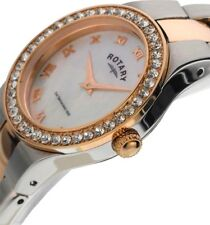 ROTARY WATCH Ladies Rose Gold Coloured and Stainless Steel LB03501/07 (RL 19)