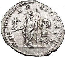 CARACALLA  Silver Ancient Roman Coin Minerva War Magic Rare Trophy  i55317