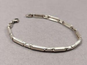 Silber Armband 925 Sterling Glieder Armband längliche Platten