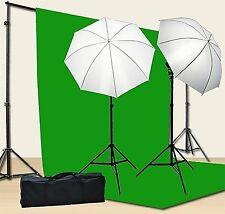 Chromakey Green Screen Kit 800w Photo Video Lighting Kit 10x12 feet Green Scr...