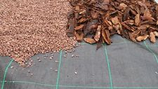BLACK WEED MYPEX MULCH MATERIAL / GROUND COVER WEED CONTROL FABRIC 10M X 2M