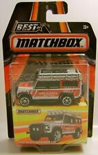 LAND ROVER DEFENDER 110 AMBULANCE BEST OF MATCHBOX RUBBER TIRES RR DIECAST 2016