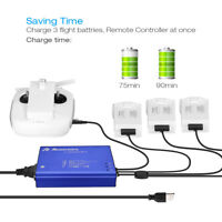 4 In 1 Rapid Multi Battery Charger Hub for DJI Phantom 4/4 Pro/4 Pro+/Controller