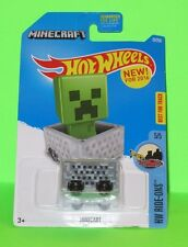HOT WHEELS MINECARFT / MINECAR  ATTACH SOME FIGURES TO RIDE ALONG