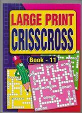 Large Print Criss Cross Puzzles 4 Book Value Set Jumbo A4 Size