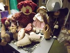 Doll Lot Hand Crafted 4 Piece Lot From Old Estate Sale Material Wood Mix