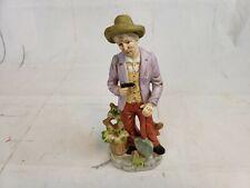 Flambro Porcelain Figurine Old Man With Shovel In Garden Pt2
