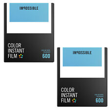 Impossible Instant Color Film for Polaroid 600 type cameras (PRD4514) 2-Pack