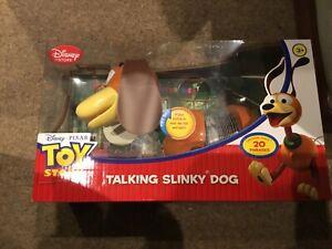Toy Story Disney Store Pixar Talking Slinky Dog Brand New 20 Phases