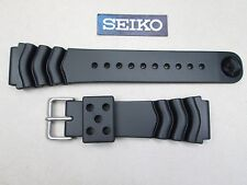 Genuine Seiko SKX007K dive black rubber watch band strap 22mm lug Z-22 4FY8JZ