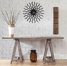 Metal Abstract Wall Clock,Large Black Wall Art Clock,Modern Wall Clocks For Home