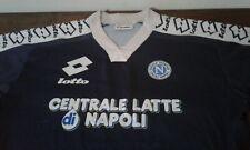 MAGLIA SHIRT VINTAGE NAPOLI CALCIO FOOTBALL LOTTO XL CENTRALE LATTE NAPOLI. BLUE