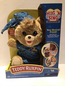 Teddy Ruxpin Hug N Sing Plush Interactive Stuffed Bear Toy Exclusive NEW