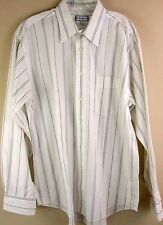 Yves Saint Laurent Shirt 16 34/35 Blue White Striped Long Sleeve Button Down Men