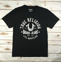 Mens True Religion Jeans T-Shirt Graphic Logo Los Angeles L.A. Tee Black Crew S
