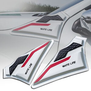 SIDE VENT COVER WHITE+RED+BLACK PAIR FIT NISSAN NAVARA NP300 D23 14 15 17 2018