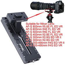 FASCETTA Treppiede base cambio veloce piastra per Nikon AF-S 300mm f/2.8g ed VR & II