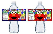 20 GLOSSY ELMO PERSONALIZED BIRTHDAY PARTY FAVORS WATER BOTTLE LABELS WRAPPERS
