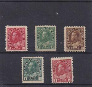 Canada Mint 1911-1931,Admiral Assortment MHR