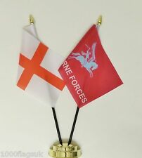 England & British Army Airborne Forces Double Friendship Table Flag Set