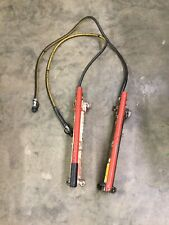 2 Power Team Hydraulic Hand Pumps with Hose P-55?