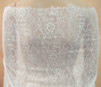 Dancing Dress Stretch Tulle Trim Chantilly Floral Costume DIY Lace Fabric 0.5 Y