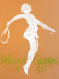 Roland Garros, 1990 - Claude Garache Art Print Original Tennis Lithograph Poster