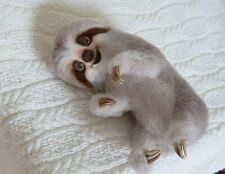 Felted Mila sloth, semi-realistic toy, OOAK 11in