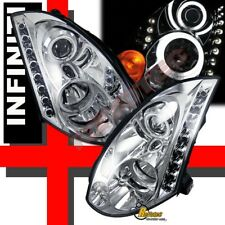 G3 Super Bright Halo LED Projector Headlights For 03-05 Infiniti G35 2DR Coupe