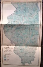 New ListingMap of Illinois showing prairies, woods, swamps, bluffs 1857