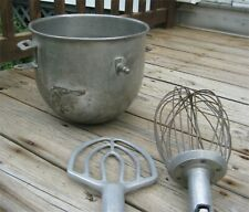 New Listinghobart 20 Quart Mixer Hobart Stainless Steel Bowl Paddle And Whisk