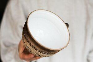 Large coffee mug Pottery mug Ceramic mug Floral mug Unique mug Father mug Gift