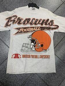 Large NWOT Deadstock Cleveland Browns 1993  Riddell NFL T-Shirt VTG 90s Tee Rare
