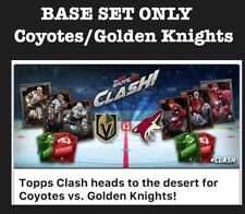 COYOTES/GOLDEN KNIGHTS-CLASH BASE 12 CARD SET-TOPPS SKATE 20 DIGITAL