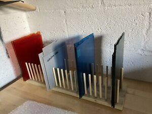 Stained or Fused glass storage rack