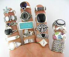 NEW 925 Sterling Silver 50 GRAMS Wholesale Mixed Variety Lot Approx. 9-15 Rings
