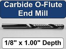 "1/8"" x 1.00"" Depth 'O' Flute Carbide End Mill -  Aluminum Plastic Acrylic A-1-4"