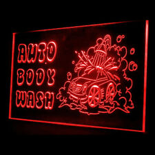 190020 Open Auto Body Wash Car Shop Fresh Scent Display Led Light Signs