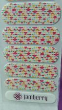 """New, Retired ,1/2 SHEET JAMBERRY NAIL WRAPS """"April 2015 Stylebox"""" Multi-Color"""