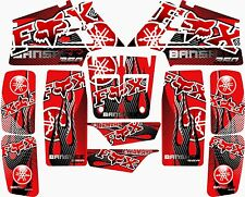 Yamaha banshee full graphics kit Red 15mil....