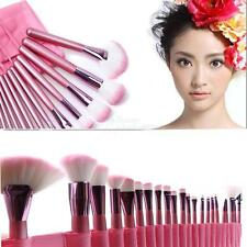 22pcs superior Professional Soft Cosmetic Makeup Brush Set Pink with Pouch Bag