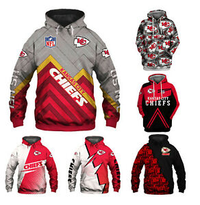 Kansas City Chiefs Hoodie Pullover Hooded Sweatshirt Casual Jacket Gift for Fans