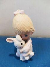 Enesco Jonathan & David Precious Moments Girl With Bunny 1982 E9279