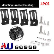 4PCS Mounting Brackets Bottom Clamps For LED Light Bar Pods Holder Universal AU