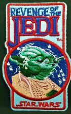 """Star Wars Revenge Of The Jedi  Yoda 4"""" Embroidered Iron on Patch Free p & P"""
