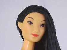 Jointed Mulan Disney Barbie Doll Asian Chinese Raven Hair Nude for OOAK a)