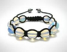 Womens Moonstone Natural Gemstone Beads Shamballa Wrap Beaded Jewelry Bracelet