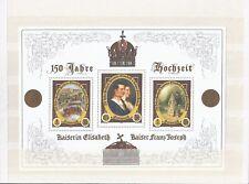 Österreich 2004 ** Block 23 Hochzeit Geschichte Postfrisch siehe scan