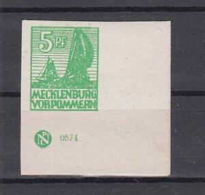 SBZ  Mecklenburg - Vorpommern  32 x  DZ  Eckrand mit Druckereizeichen  **
